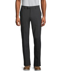 extra slim-fit solid flat front trousers