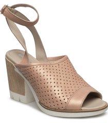 heeled sandal shoes summer shoes heeled sandals beige ilse jacobsen