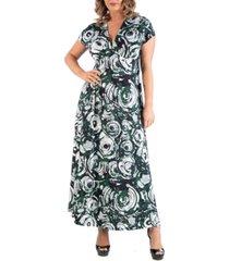 24seven comfort apparel women's plus size circlet print dress
