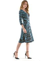 vestido mary cebra turquesa bous