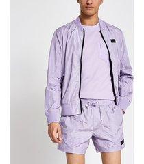 river island mens pastel tech purple tape side swim shorts