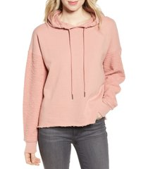 women's paige coby raw edge cotton blend hoodie