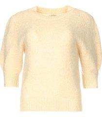 gebreide trui met pofmouwen jillian  naturel