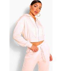 zip thru lounge hoodie, pink