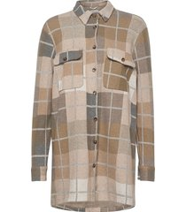 joleneln workwear oz shirt overhemd met lange mouwen beige lounge nine