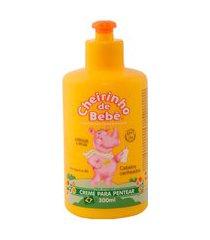 creme de pentear cheirinho de bebe cabelos cacheados hidratação brilho pró vitamina b5 300ml