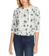 1.state floral-print lace-inset top