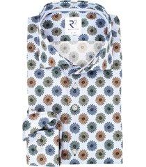 lichtblauw bloemenprint overhemd r2