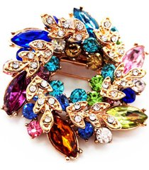 multicolor flowers shape brooch pins chinese redbud scarf buckle garment brooche