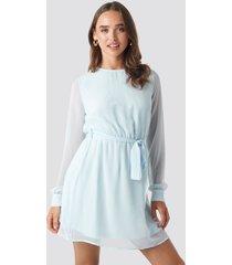 na-kd chiffon dress - blue