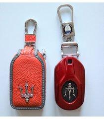 handstitch leather or abs key chain cover -maserati levante quattroporte ghibli