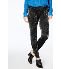hue women's crushed velvet leggings