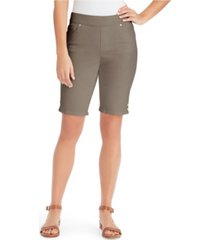 gloria vanderbilt women's avery pull-on bermuda, in regular & petite sizes