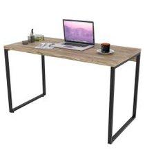 mesa de escritório office 120cm estilo industrial prisma carvalho - mpozenato