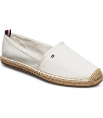 basbasic tommy flat espadrille sandaletter expadrilles låga creme tommy hilfiger