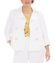 kasper plus size faux-double-breasted jacket