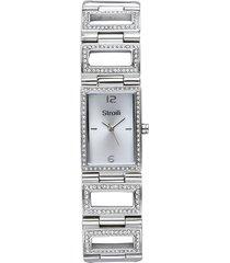 saint germain - orologio da polso solo tempo con cassa in acciaio e cinturino in acciaio con strass e quadrante silver per donna