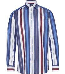 bold striped cotton-tencel shirt skjorta casual blå eton