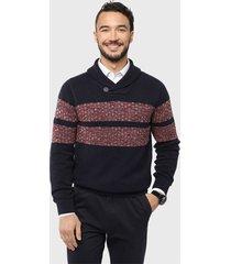 sweater texturado navy arrow