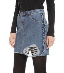 falda noisy may nicole azul - calce regular