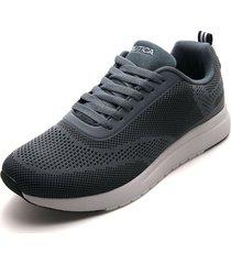 tenis lifestyle gris-negro-blanco nautica