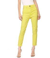calça sarja my favorite thing(s) skinny color amarela - kanui