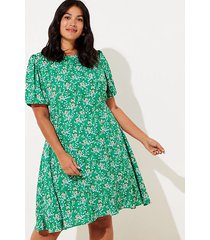 loft loft plus buttercup puff sleeve flounce dress