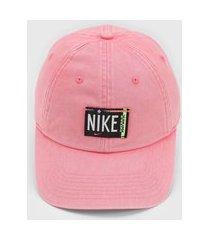 boné nike sportswear h86 ssnl wash rosa