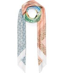 anagram print colourblock silk scarf