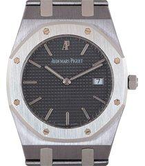 audemars piguet pre-owned octagonal wrist watch - stainless steel