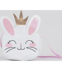 bolsa infantil coelha branca
