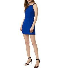 whisper high-neck mini dress