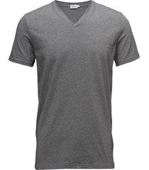 m. lycra v-neck tee t-shirts short-sleeved grå filippa k