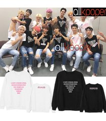 kpop seventeen sweater diamond edge concert hoodie hoody casual letter pollover