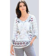 blouse alba moda offwhite::taupe