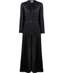 temperley london crystal-embellished jumpsuit - black