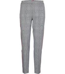 fauna slim pant pantalon met rechte pijpen grijs tommy hilfiger