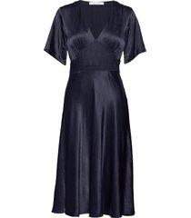 cindy dress 10447 knälång klänning blå samsøe samsøe