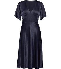 cindy dress 10447 knälång klänning blå samsøe & samsøe
