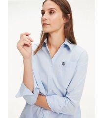 camisa essential de corte oversize multicolor tommy hilfiger