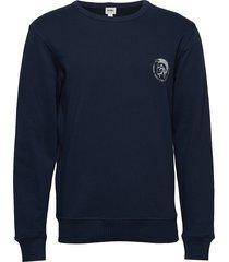 umlt-willy sweat-shirt sweat-shirt trui blauw diesel men