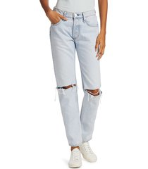 rag & bone women's rosa distressed boyfriend jeans - rochelle - size 24 (0)