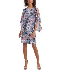 msk rhinestone-trim crisscross-back dress