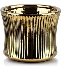 kwietnik osłonka ceramiczna gold line