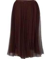 dianacr skirt knälång kjol brun cream