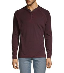 long-sleeve cotton-blend hoodie