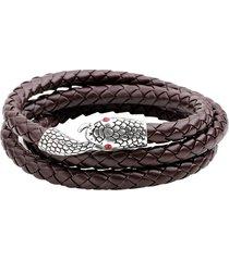 punk multistrato braccialetto serpente testa serpentina treccia in pelle braccialetto braccialetto gioielli moda per uomo