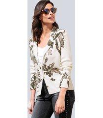blazer alba moda offwhite::antraciet::rozenhout