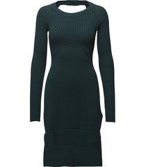 m-string dress jurk knielengte groen diesel women