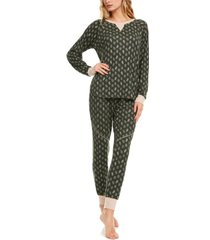 women's flora nikrooz maddie hacci pajamas, size x-small - green